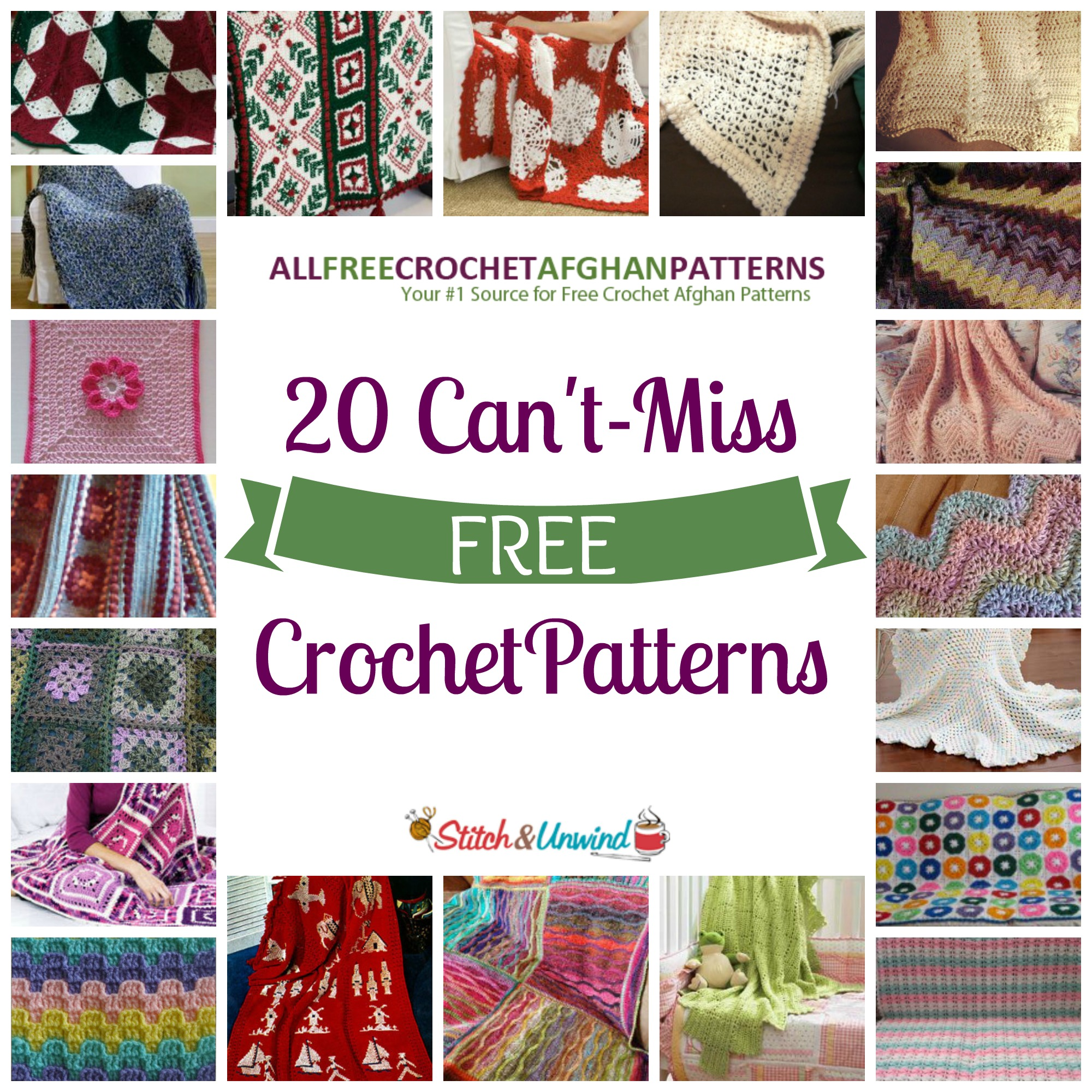 Free Online Christmas Crochet Afghan Patterns : 20 Cant-Miss Crochet Patterns - Stitch and Unwind