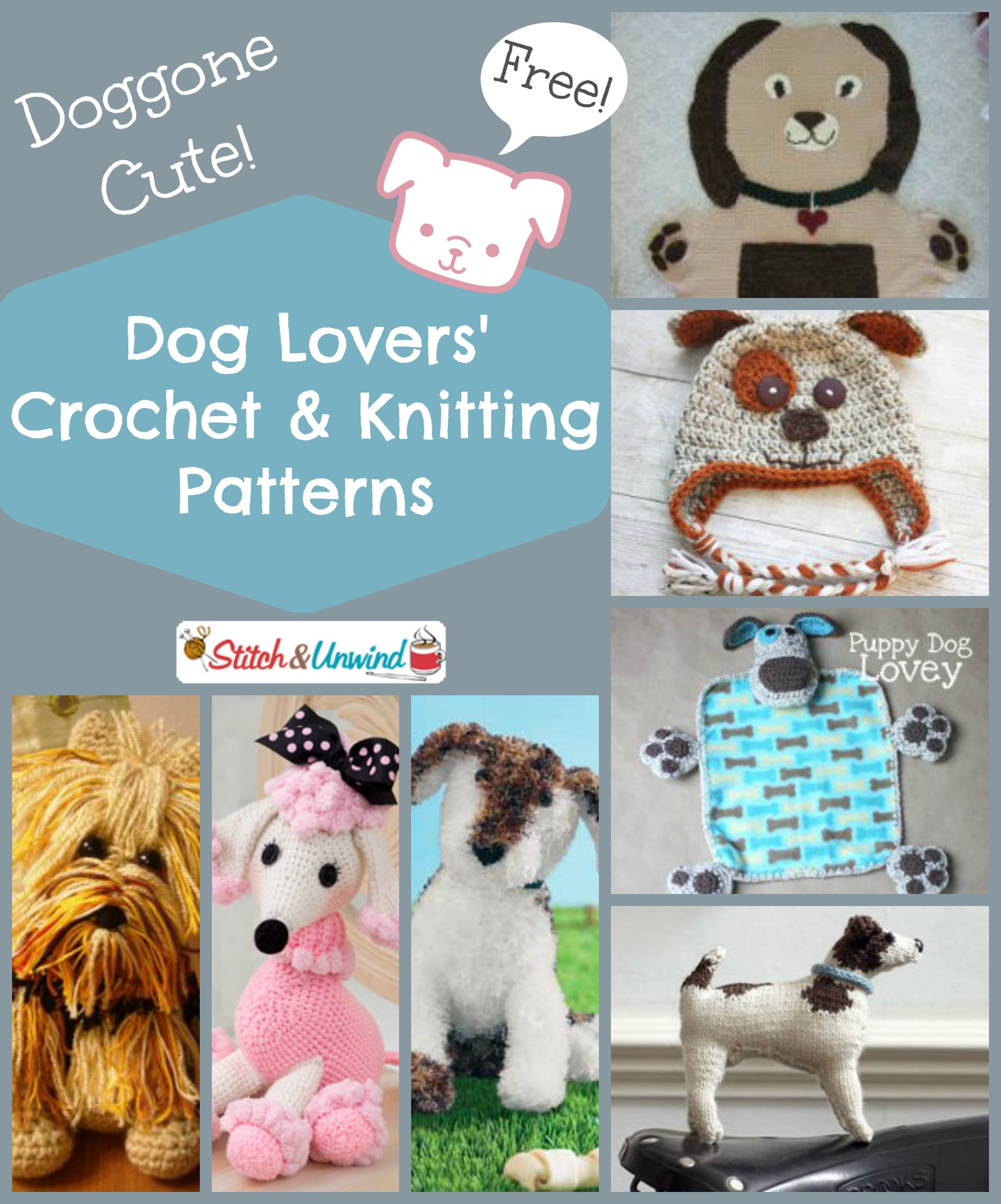 Doggone Cute Dog Lovers Crochet And Knitting Pattern Round Up