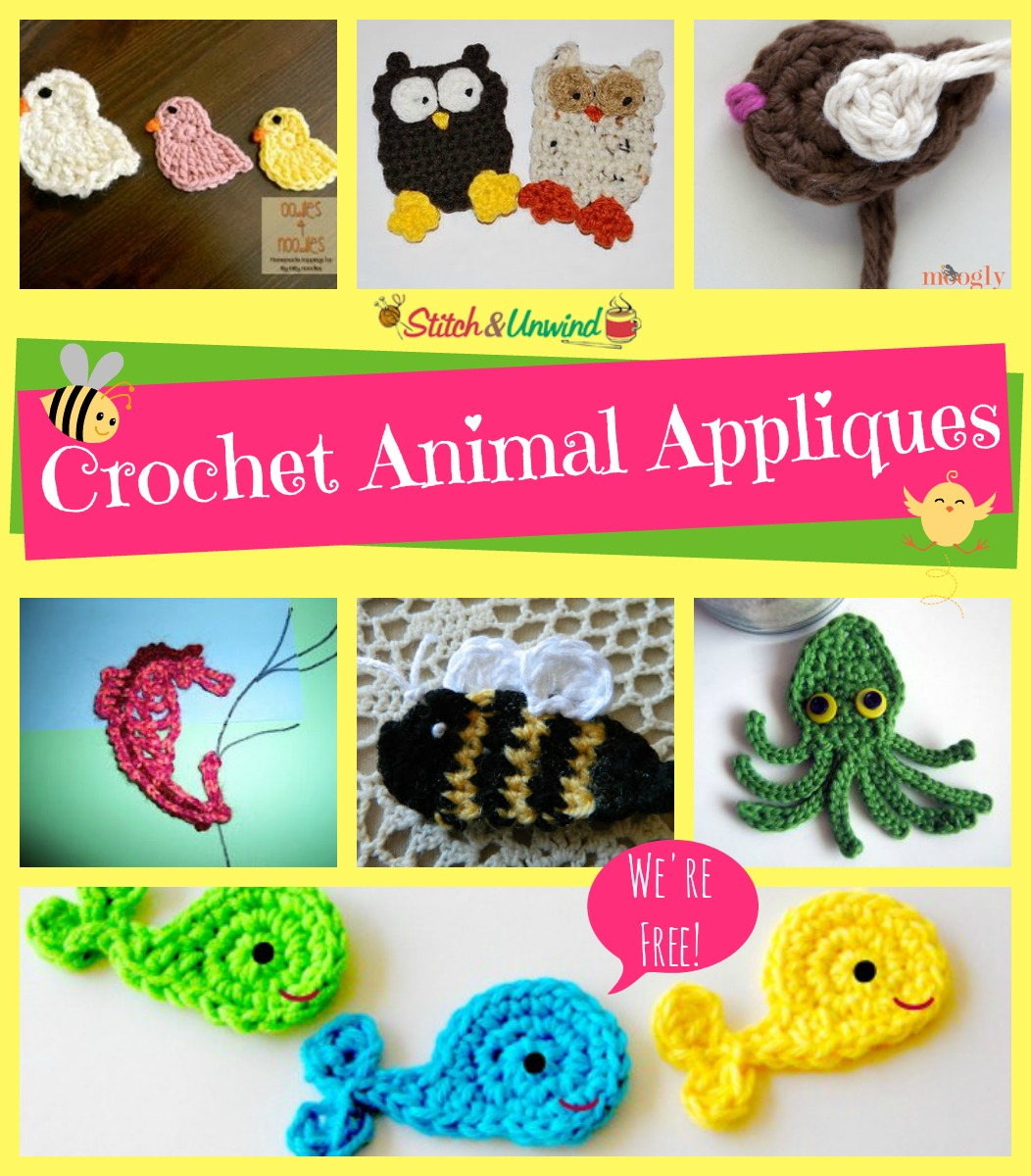 Add Flair To Your Afghans Free Crochet Applique Patterns Stitch