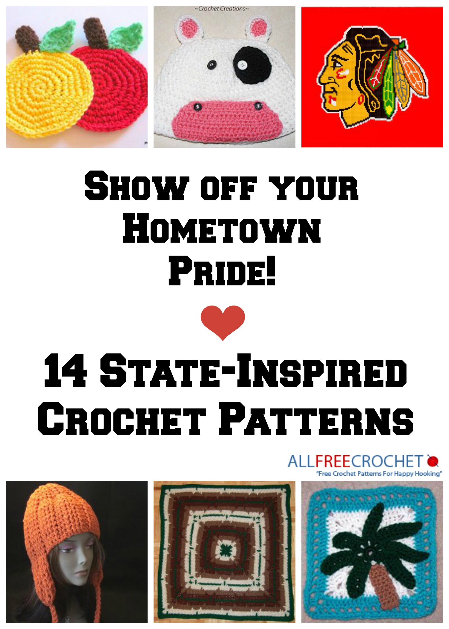 14 Free Crochet Patterns To Show Off Your State Pride Stitch And