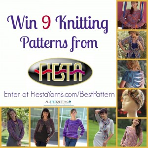 Enter to win a package of patterns from Fiesta