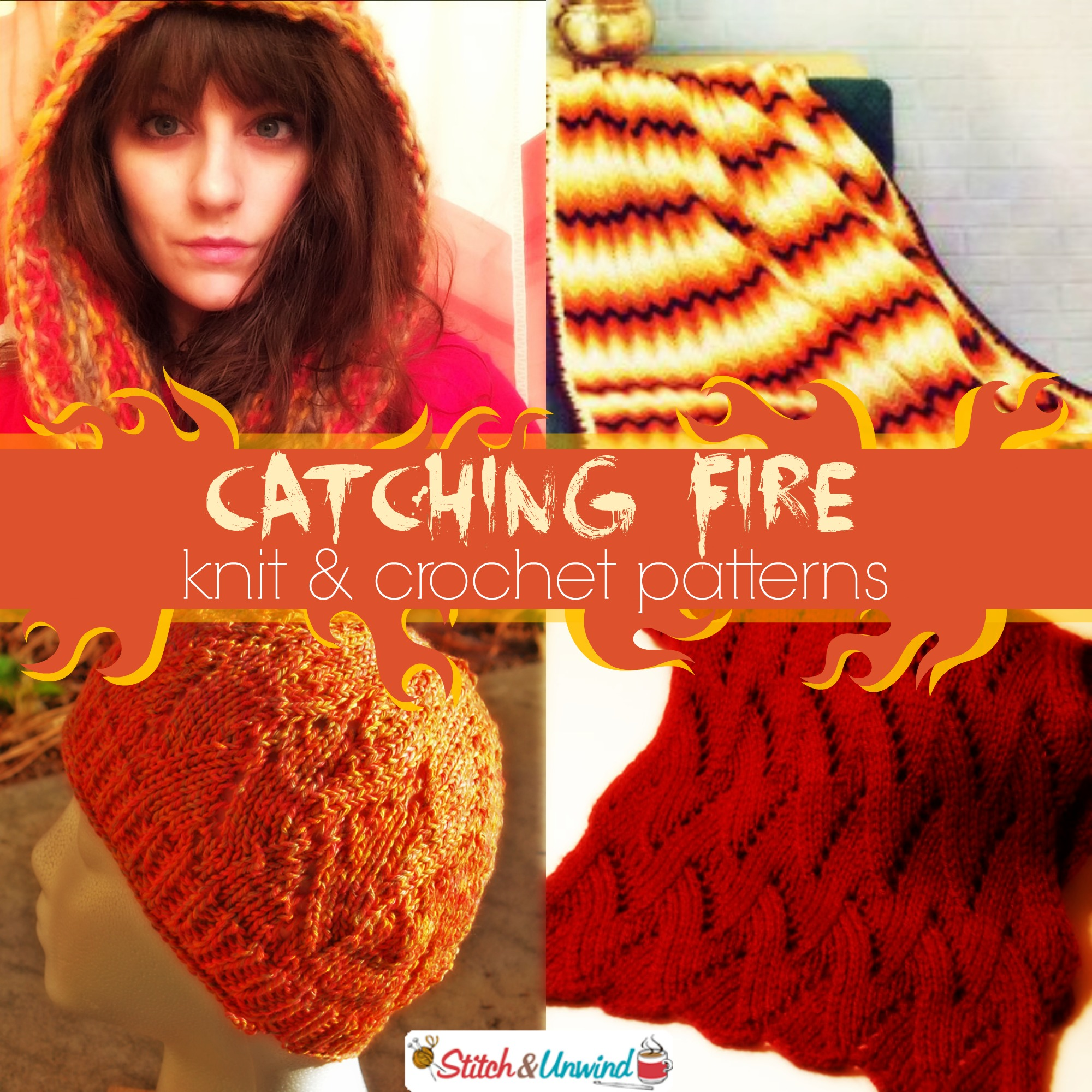 Catching Fire Hot Knit Crochet Patterns Hunger Games Stitch