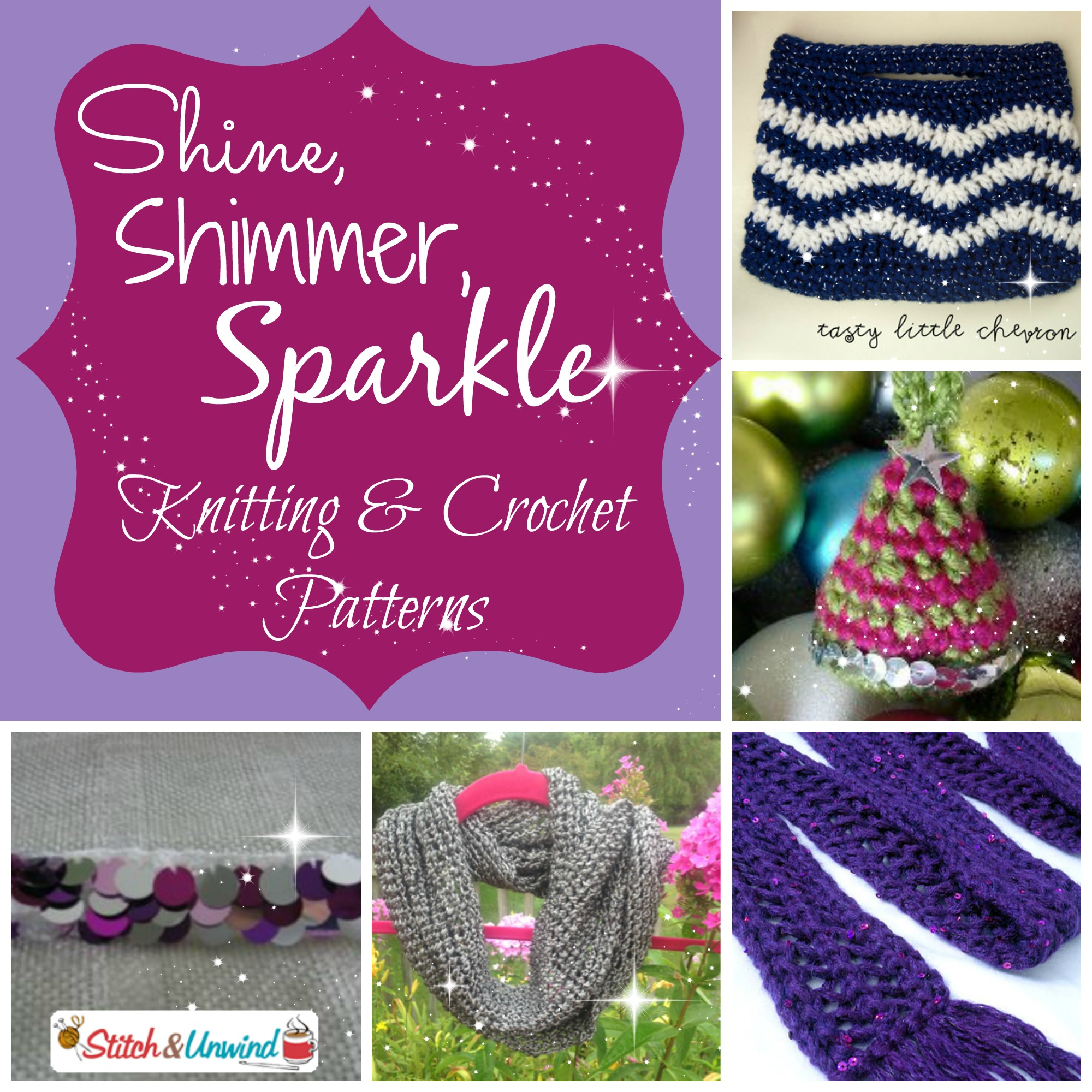 Shine, Shimmer, and Sparkle: Glitzy Knitting and Crochet Patterns ...