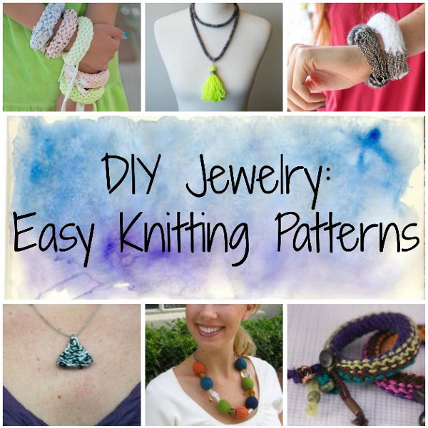 Diy Jewelry Easy Knitting Patterns Stitch And Unwind