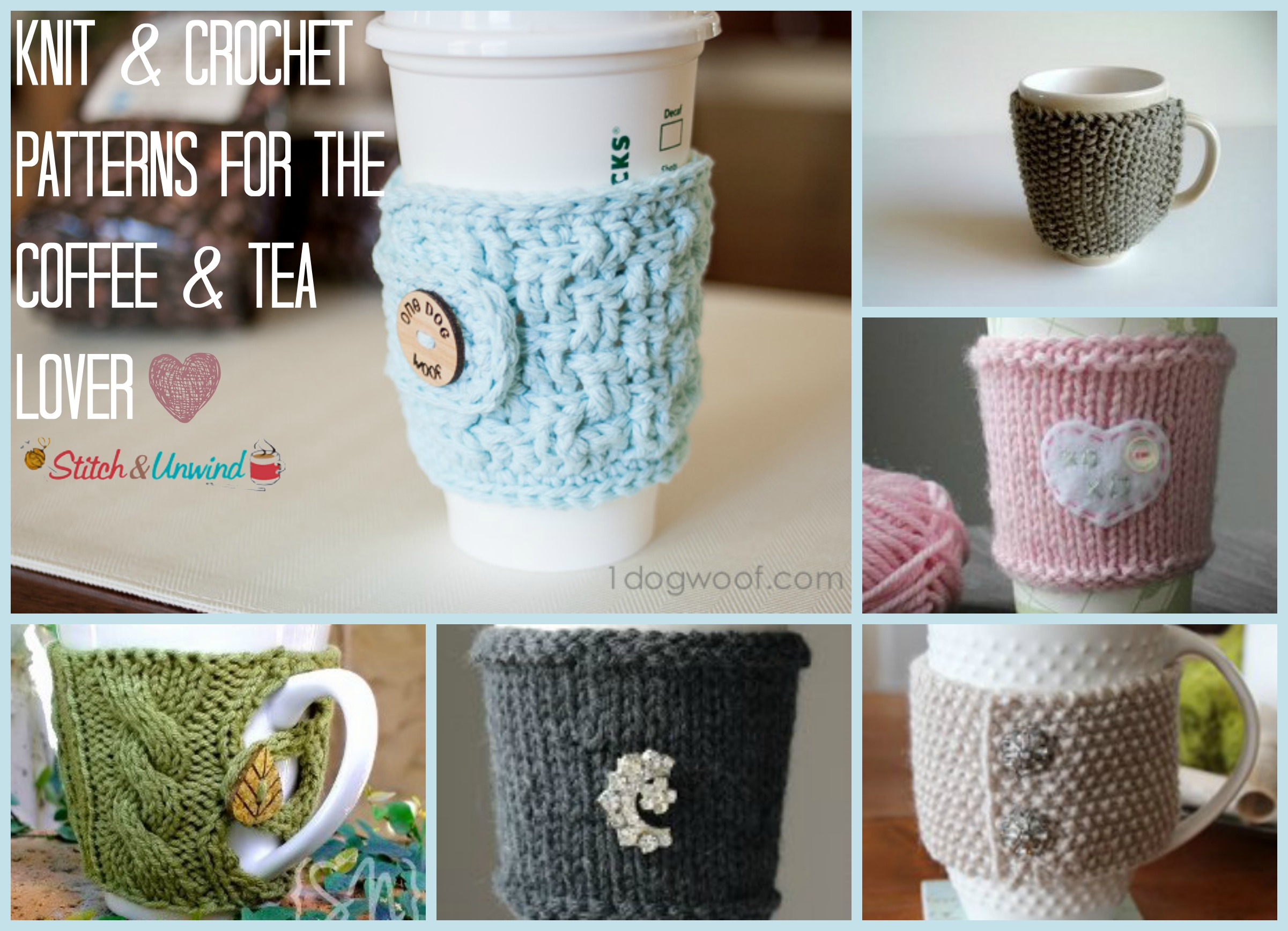 Free Knitting Pattern Coffee Cup Sleeve : Hug That Mug: Patterns for the Coffee & Tea Lover - Stitch and Unwind