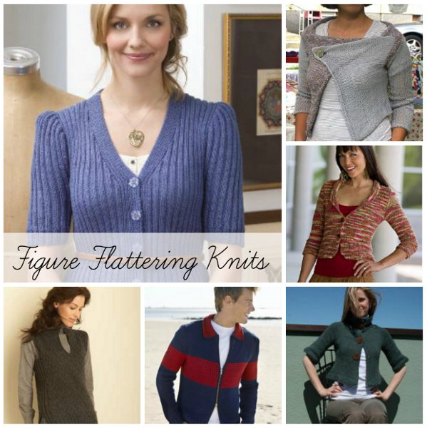 Figure Flattering Knits Slimming Knit Sweater Patterns Vests And
