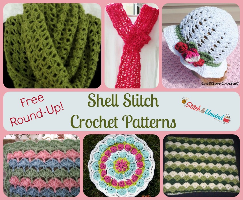 Shelling Out The Shell Stitch Crochet Patterns Stitch And Unwind