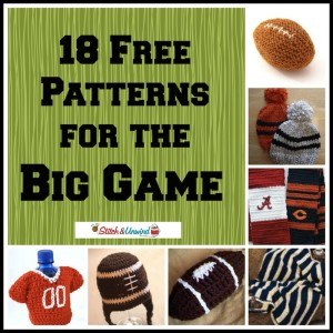 Big Game Free Knit and Free Crochet Patterns
