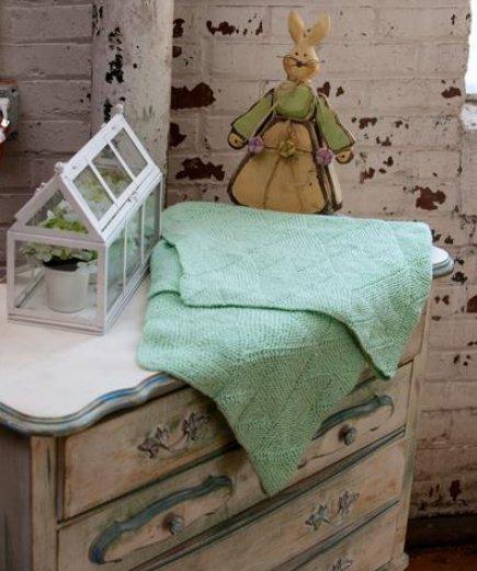 Many Mitered Baby Blanket