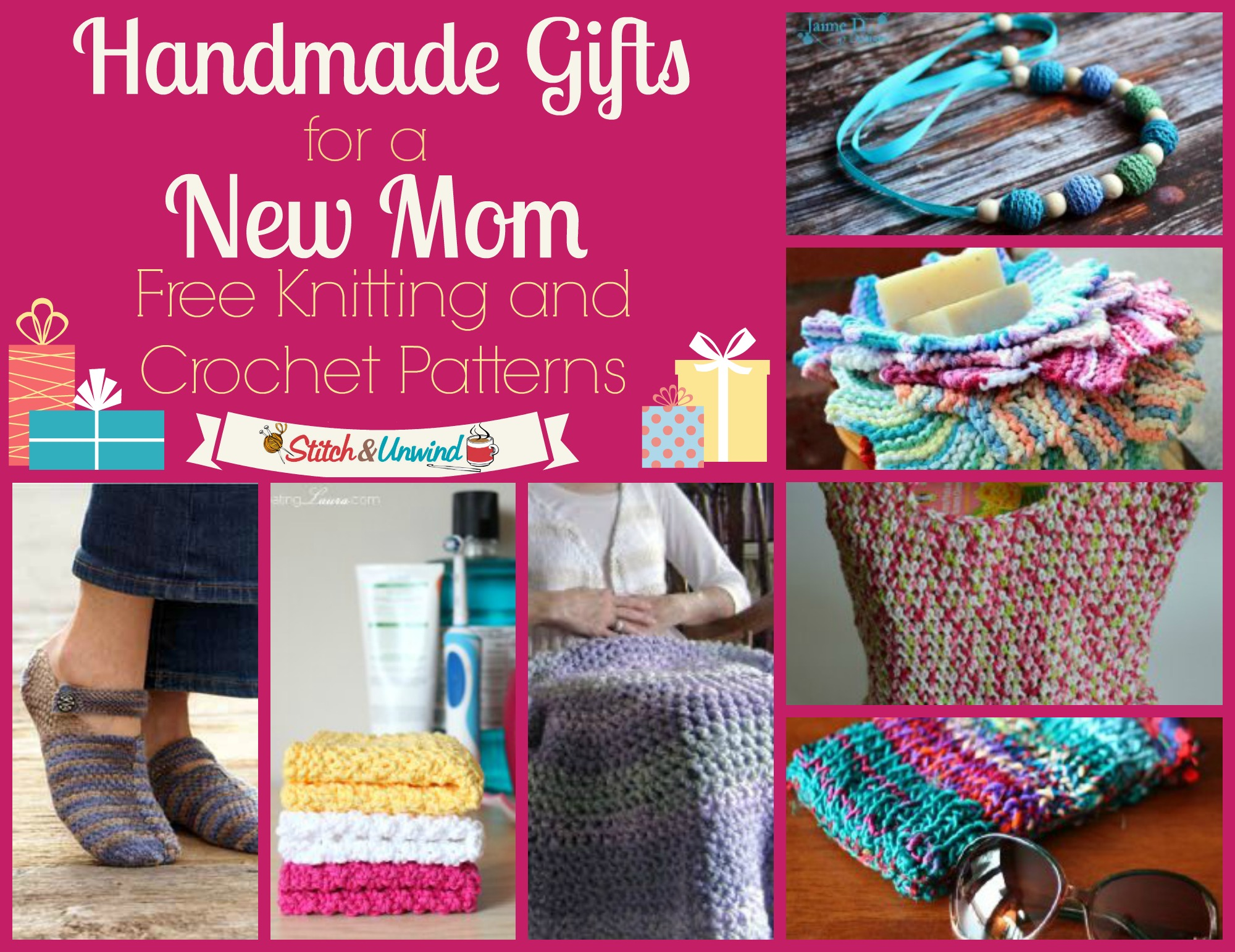 Handmade Gifts For A New Mom Knitting And Crochet Patterns Stitch