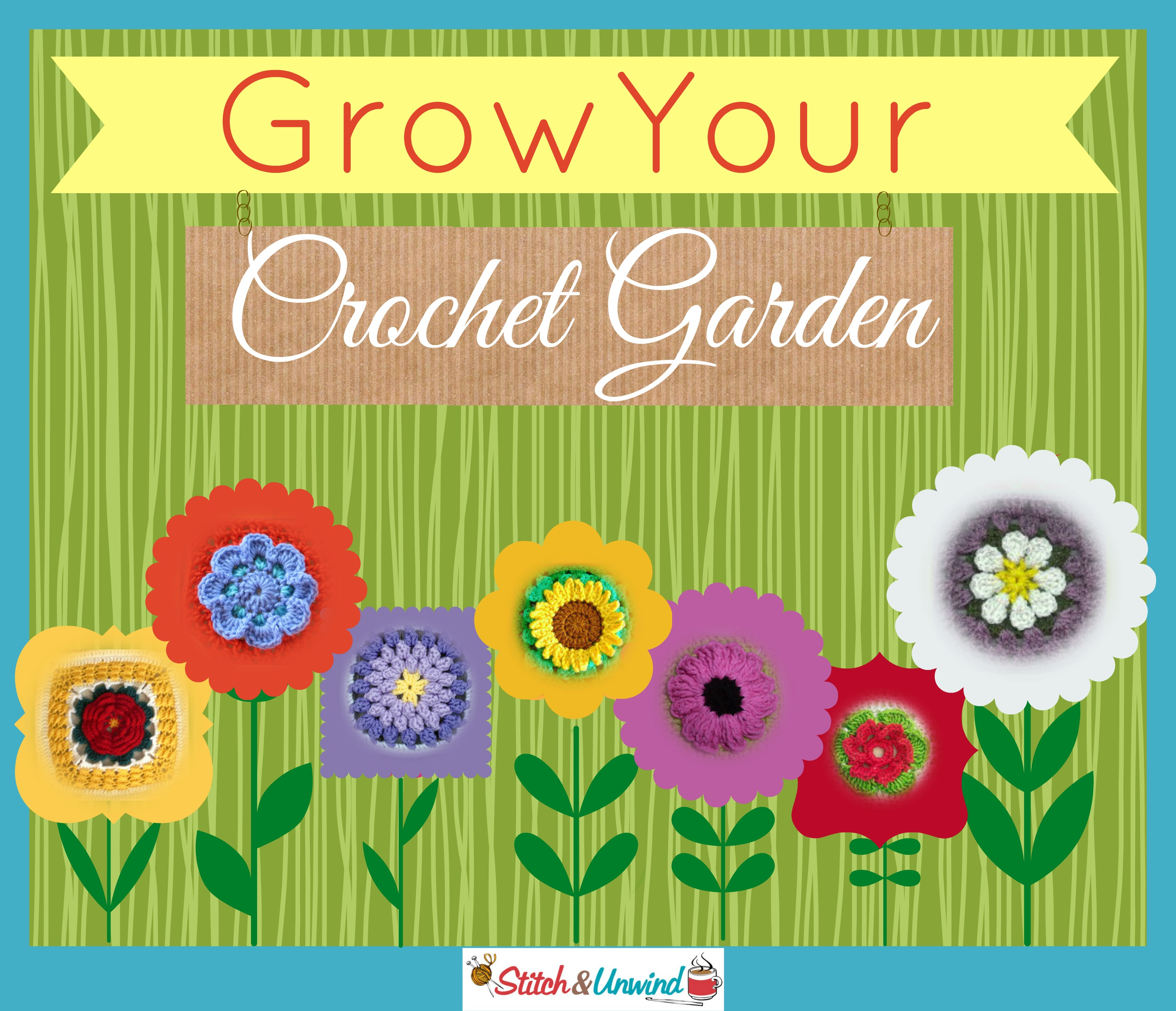 Grow Your Crochet Garden: 28 Flower Crochet Squares - Stitch and Unwind