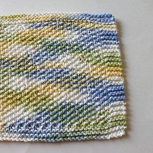 Spring Seed Stitch Dishcloth