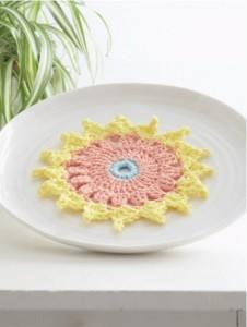 Cute Dahlia Dishcloth