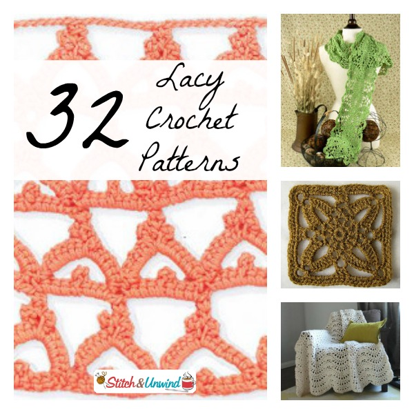 Embrace The Lace 32 Light And Lacy Crochet Patterns Stitch And Unwind