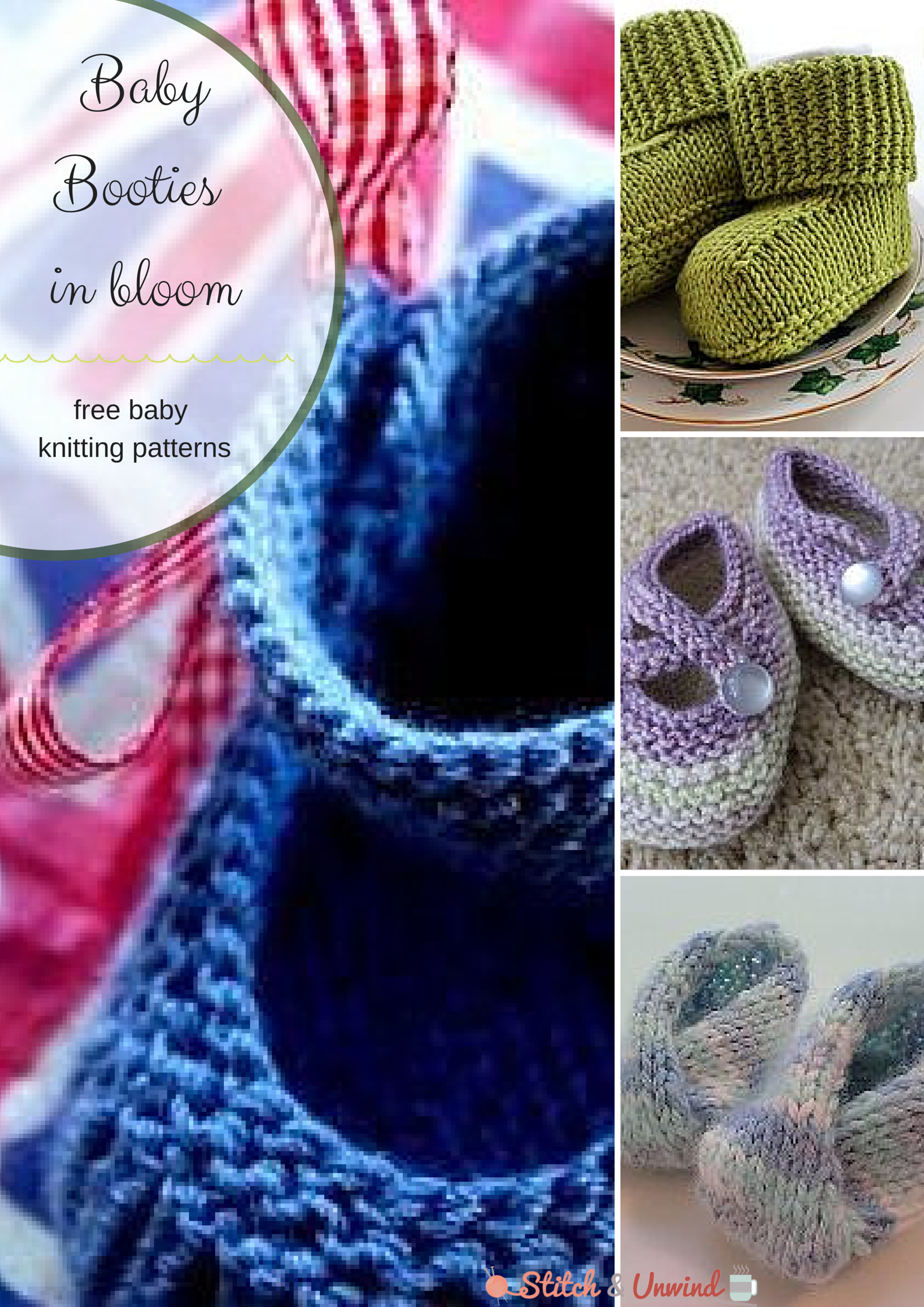 Baby Booties in Bloom - Stitch and Unwind
