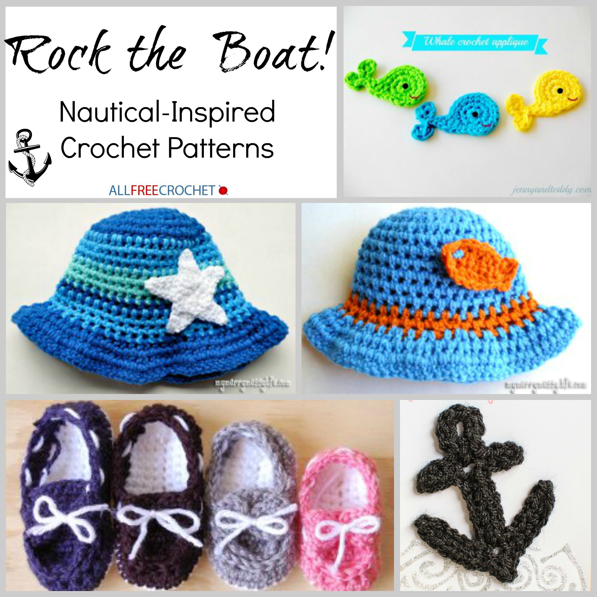 Rock The Boat 15 Nautical Inspired Crochet Patterns For Summer
