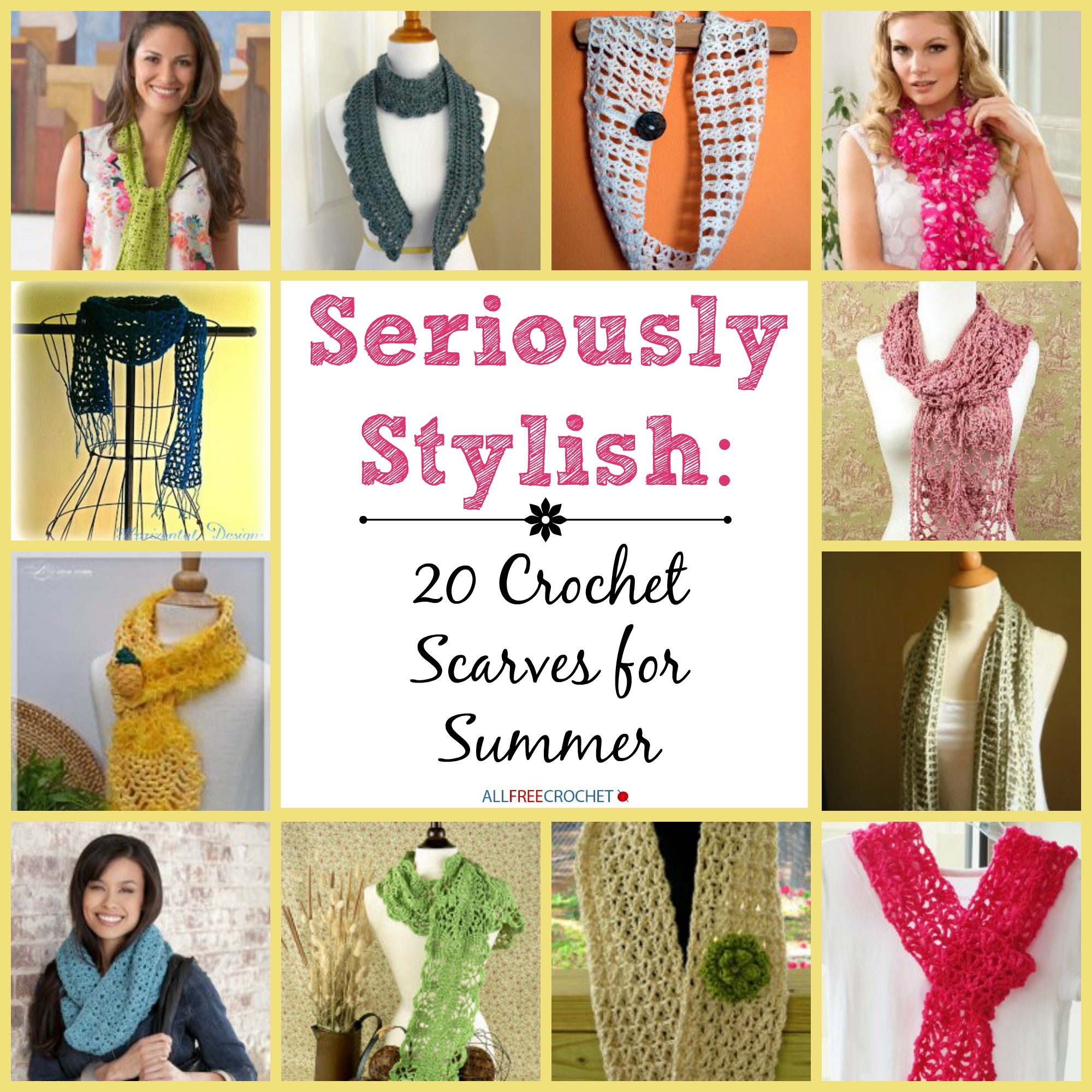 Seriously Stylish Crochet Scarves For Summer Stitch And Unwind