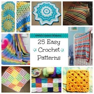 World's Easiest Afghans: 25 Easy Crochet Patterns
