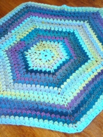 Caribbean Hexagon Blanket