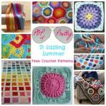 Pop of Pretty: 21 Sizzling Summer Free Crochet Patterns