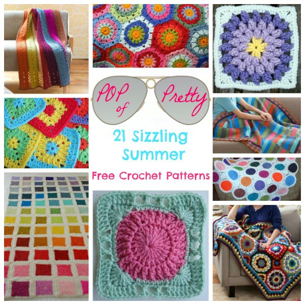 Pop Of Pretty 21 Sizzling Summer Free Crochet Patterns Stitch And