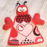 Cozy Love Bug Lovey Blanket
