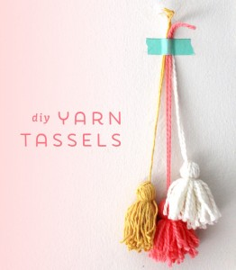 DIY Yarn Tassels from Ann Marie Loves