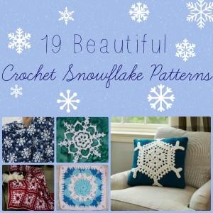 19 Beautiful Crochet Snowflake Patterns