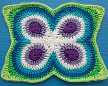 Crochet Butterfly Peacock Mandala