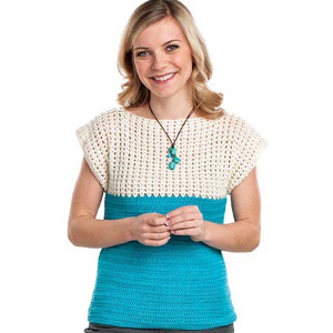 Two Tone Crochet Top