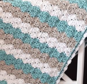 Sea Shell Stitch Crochet Baby Blanket