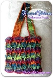 Sunset Waves Crochet Purse