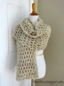 Vanilla Chai Crochet Shawl