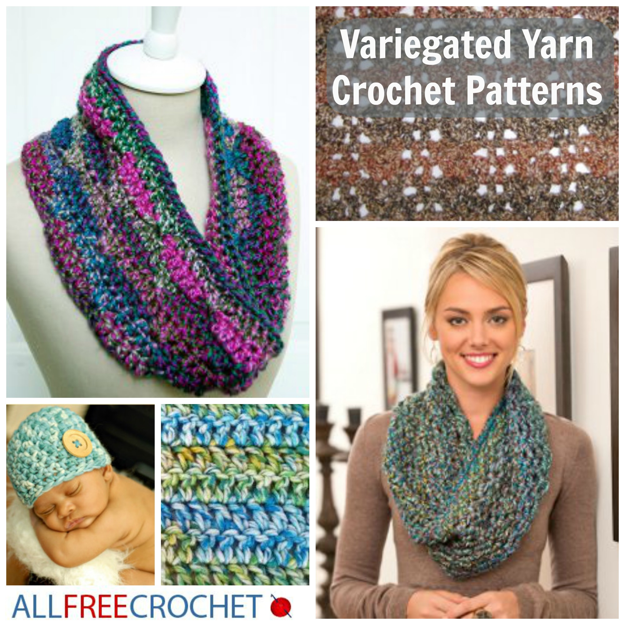 Crochet Patterns Multicolor Yarn : No-Effort Colorful Crochet: Variegated Yarn Patterns ...