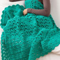 Turquoise Lace Throw