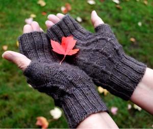 One Skein Woodsie Gloves