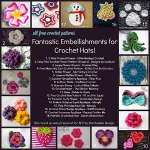 How to Embellish Crochet Hats