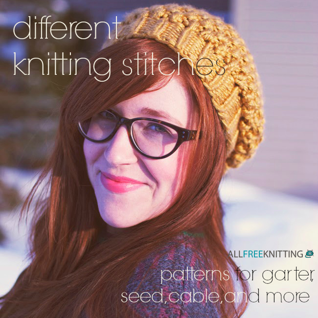 Different Knitting Stitches 146 Patterns For Garter Seed Cable