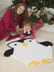 Holiday Penguin Afghan