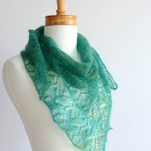 Twig Lace Shawl Knit Kit