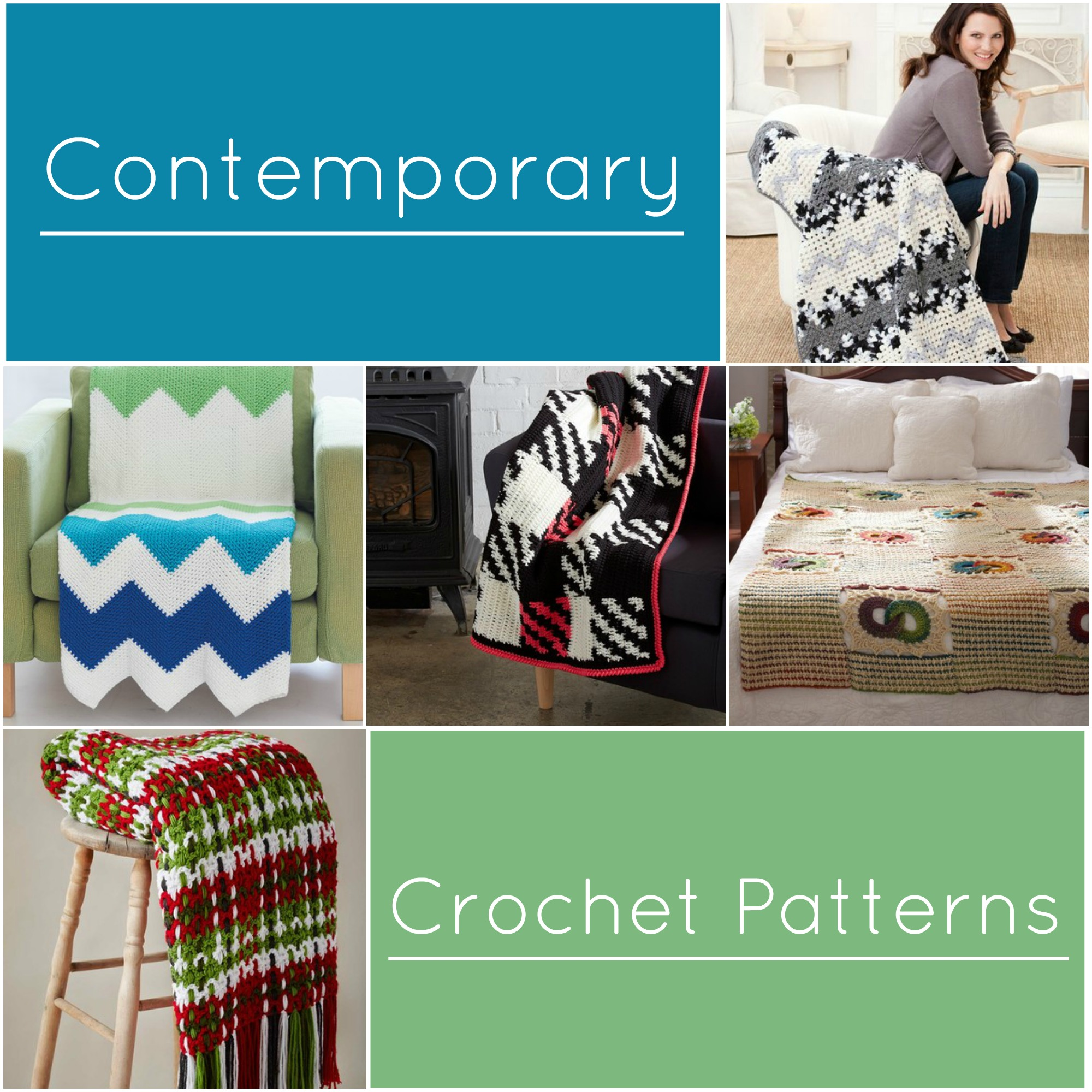 10 Contemporary Crochet Afghan Patterns Stitch And Unwind