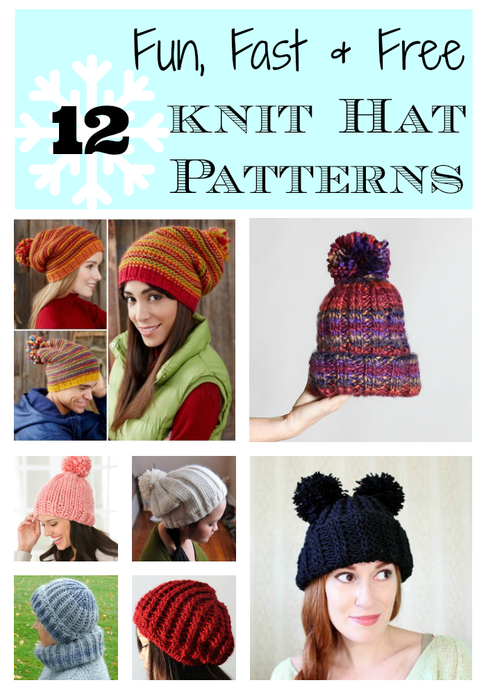 12 Lightning Fast Free Knit Hat Patterns Stitch And Unwind