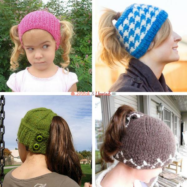 Su Ponytail Free Knit Hat Patterns Stitch And Unwind