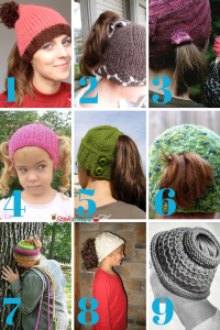 Ponytail Free Knit Hat Patterns