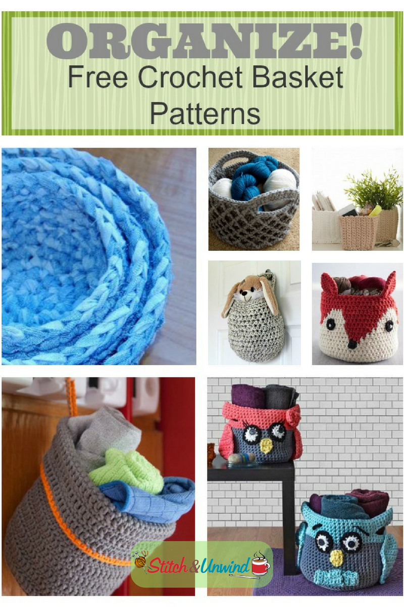 Free Printable Crochet Basket Patterns : Organize with Crochet Baskets: Free Patterns - Stitch and ...