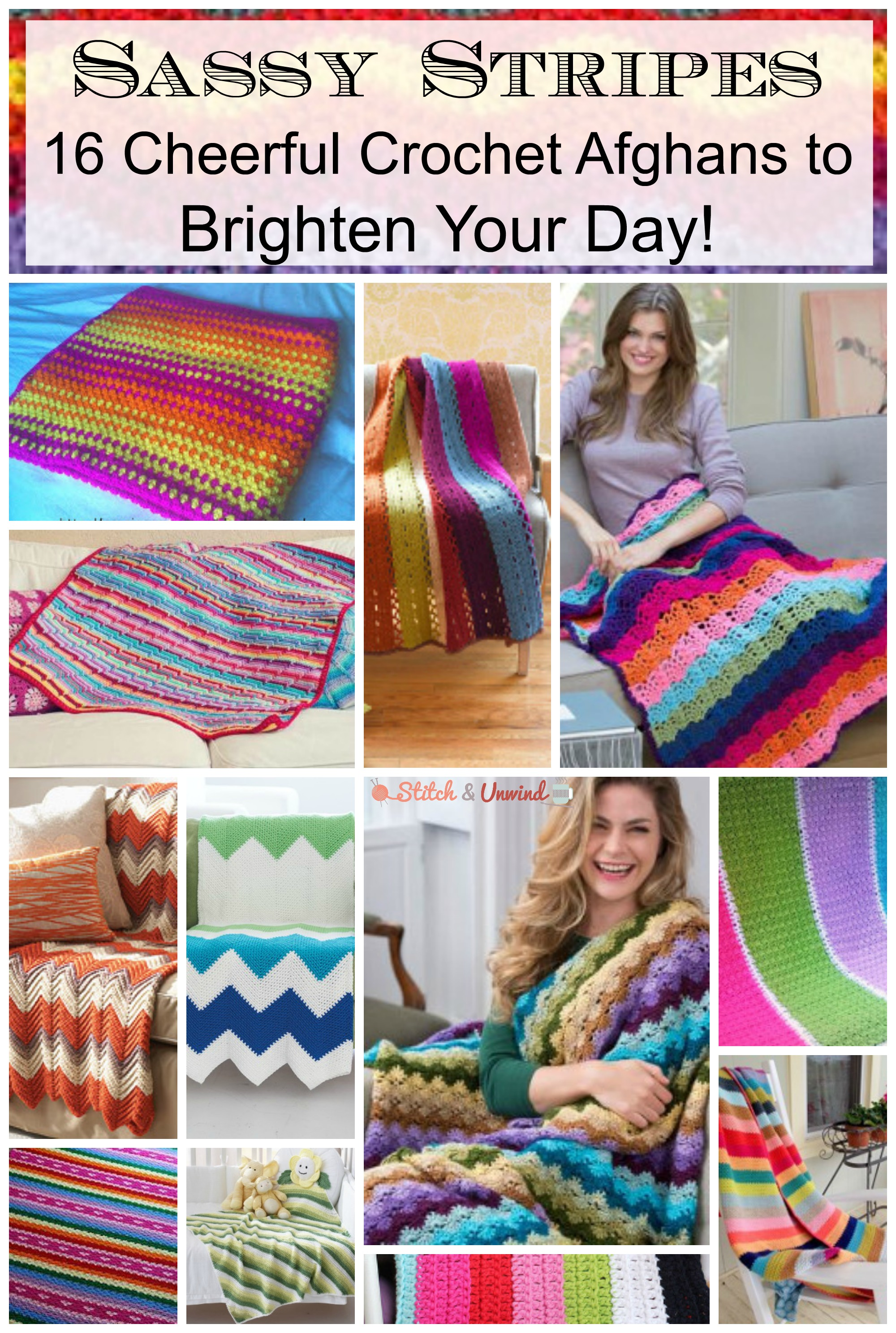 Sassy Stripes Free Crochet Afghan Patterns