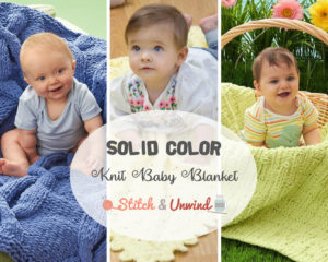 Solid Color Knit Baby Blanket