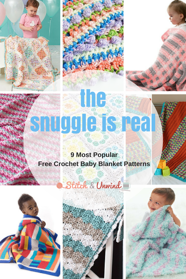 The Snuggle is Real: Our 9 Most Popular Crochet Baby Blanket ...