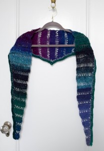 Peacock Stitch Shawlette free crochet pattern by Marie Segares 1
