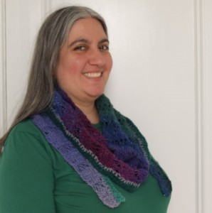 Peacock Stitch Shawlette free crochet pattern by Marie Segares 3